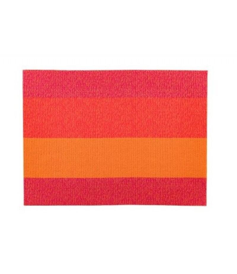 Placemat Rechthoekig Oranje/Rood/Roze 45x33cm Per 24 Verpakt