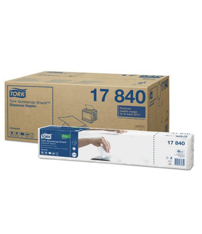 Servet Wit 213x216 1-Laags 9000 Stuks 17840 TORK Xpressnap®