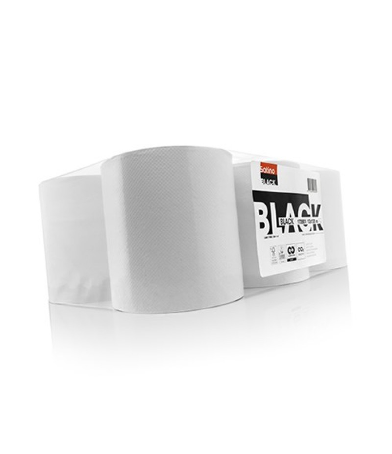 Poetsrol 1-Laags 300m 6 Rollen 306361/172800 Black Satino