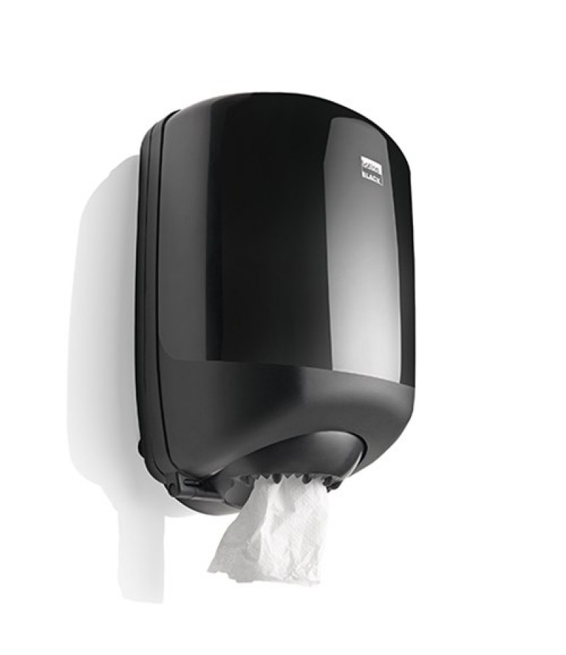 Poetsrol Dispenser Midi Zwart 332470 Black Satino