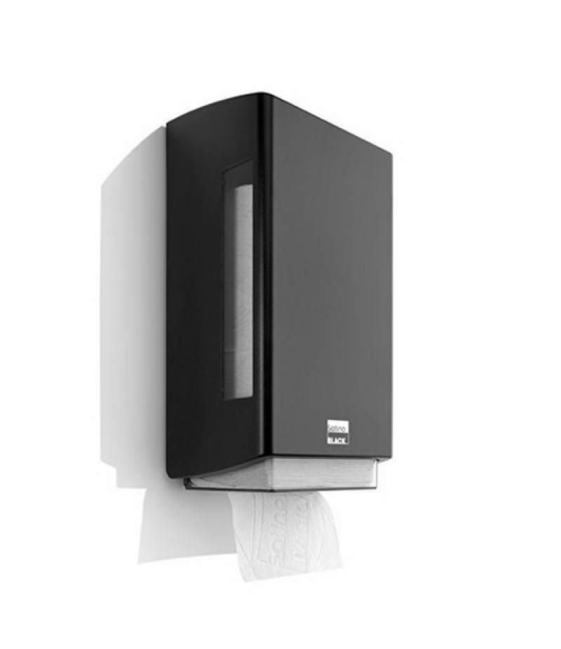 Toiletpapier Dispenser BriQ Enkel Zwart 332040 Black Satino