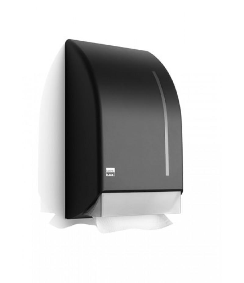 Handdoek Dispenser Zwart 331930 Black Satino