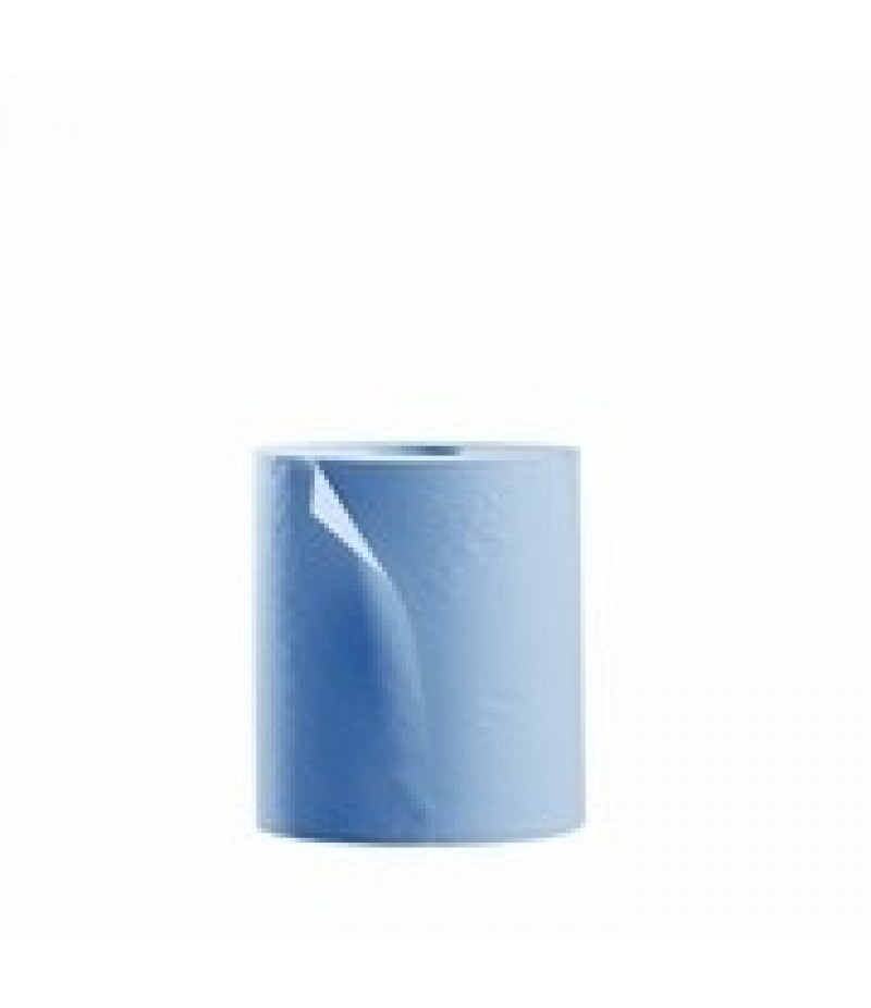 Poetsrol P2P Blauw 1-Laags 20cm 300m 6 Rollen