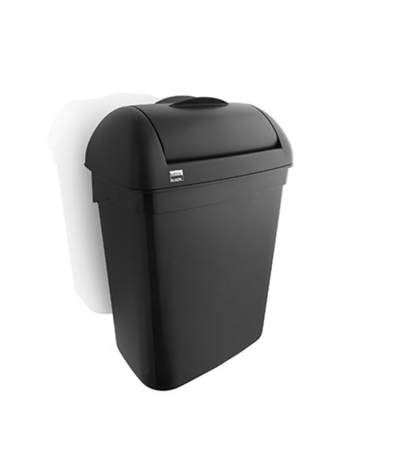 Hygiënebox Zwart 8 Liter 332170 Black Satino