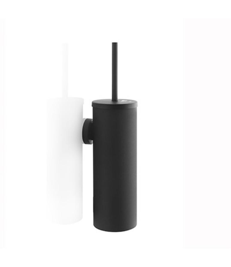 Toiletborstel Garnituur Zwart 332130 Black Satino