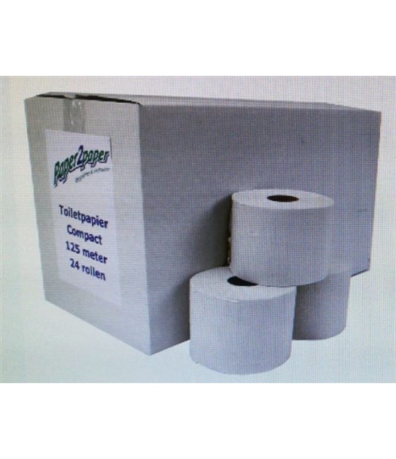Toiletpapier Compact P2P 125m 24 Rollen