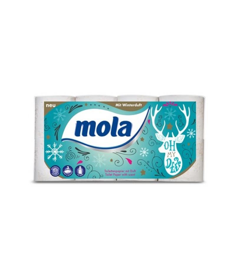 Toiletpapier 3-lgs MOLA kerst 8 rollen