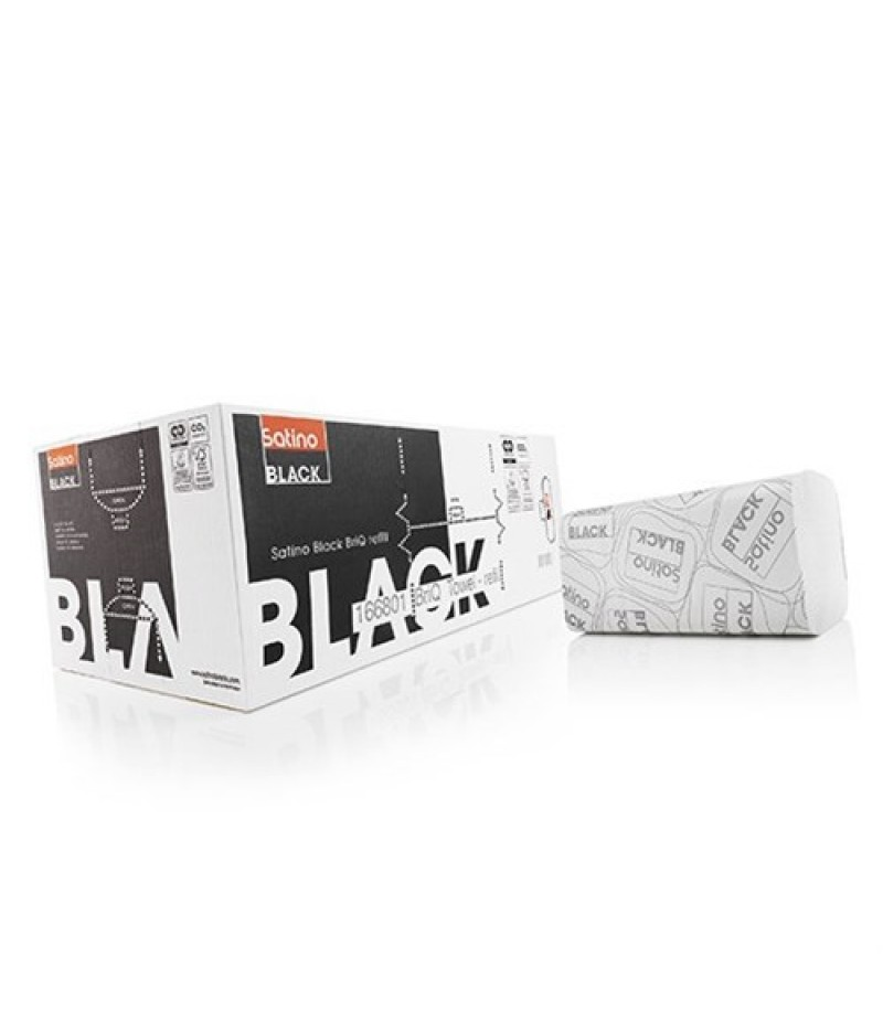 Handdoekje V 2lgs 25x23cm 3200st 274570 BlackSatino Original