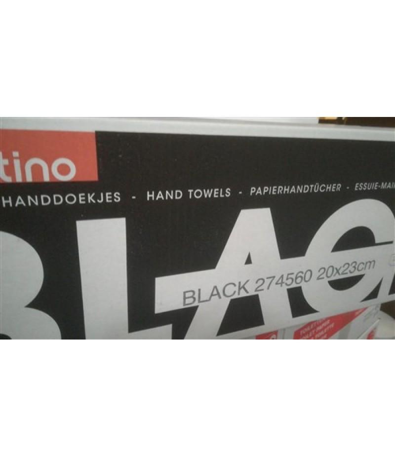 Handdoekjes MIRROR ZZ-Vouw 2lgs 20x23cm 3200st Black Satino