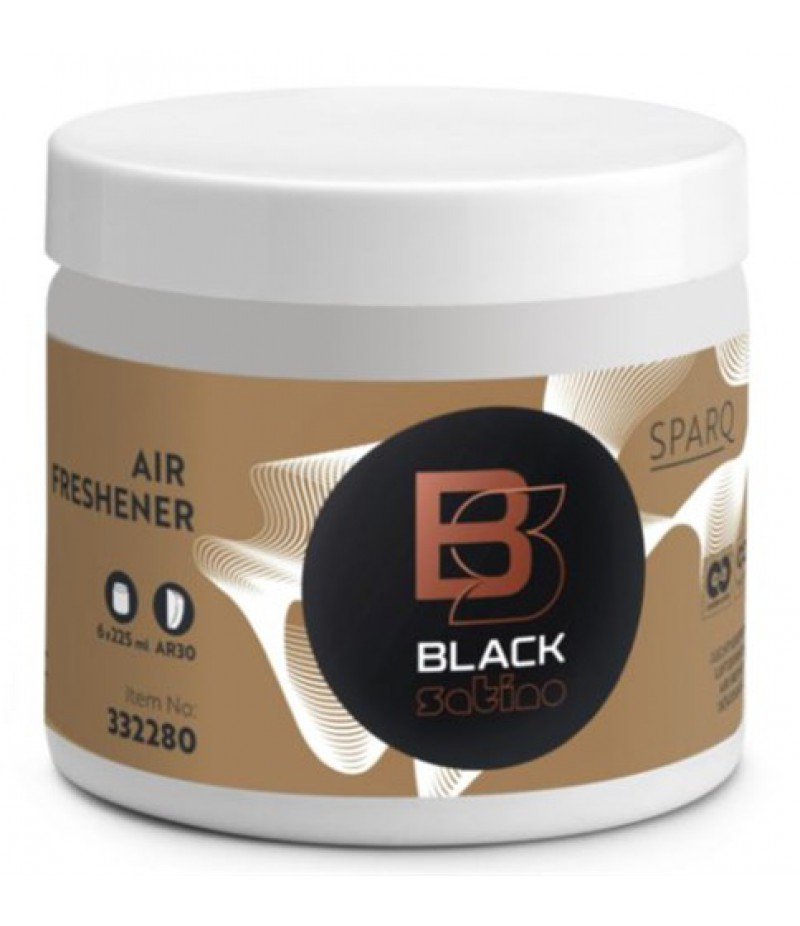 Luchtverfrisser SparQ 6x225ml 332280/180333 Black Satino