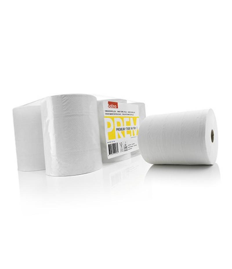 Handdoekrol Premium 2-lgs 116m 6 Rol 306550/17500 Satino Wep