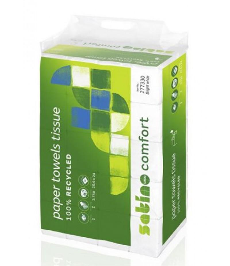Handdoekpapier Comfort PT2 Z 277330 TBV Disp. Karton Wit