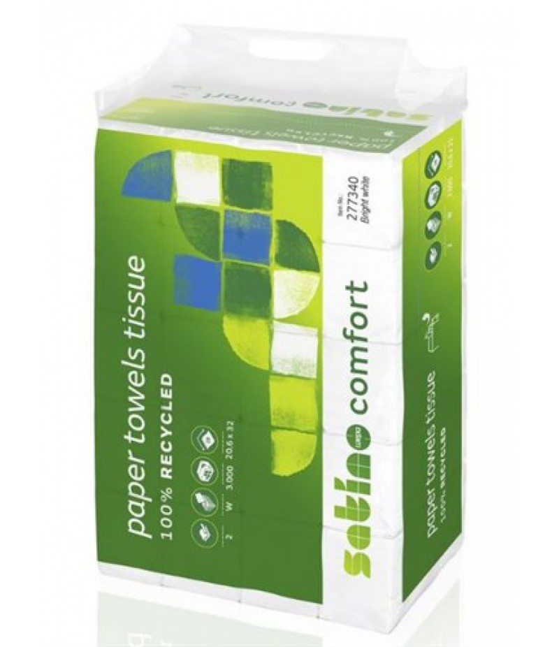 Handdoekpapier Comfort PT2 W 277340 TBV Disp. Karton Wit