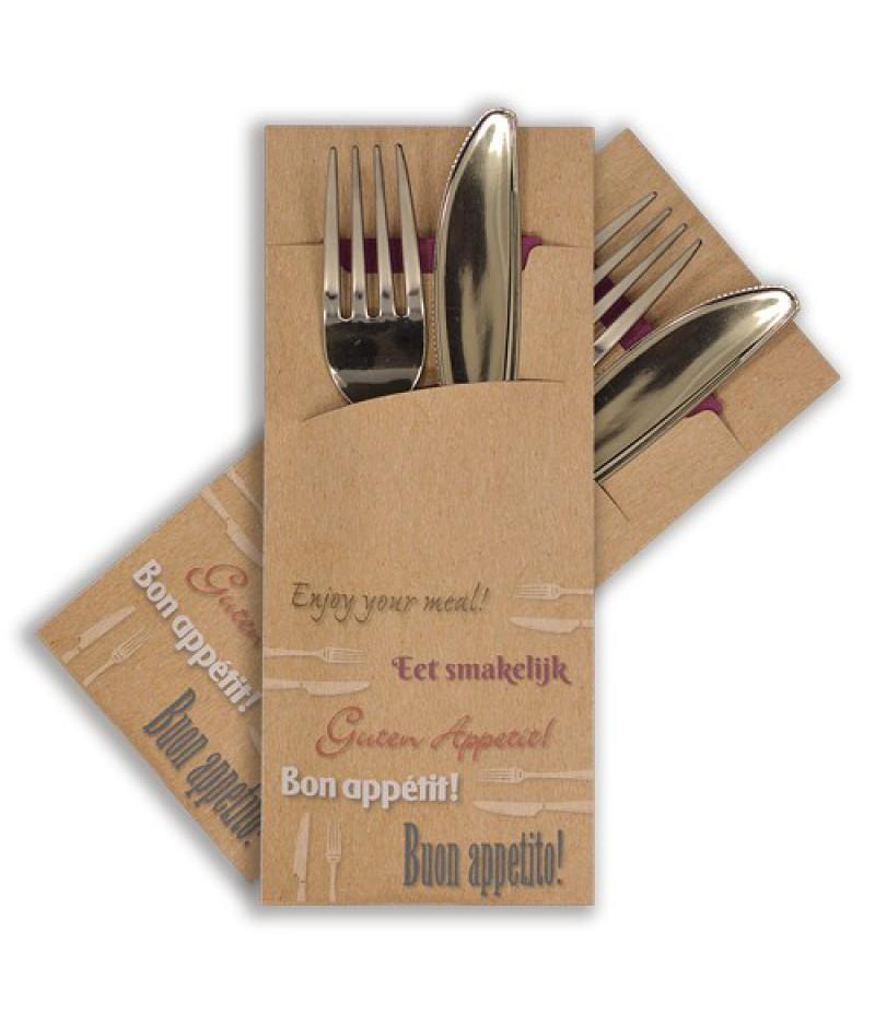 Bestekzakje Kraftlook Eet Smakelijk Poch-008 520 Stuks