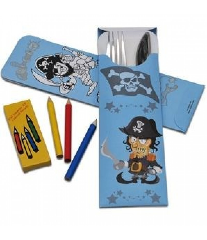 Bestekzakje Blauw Jongens Piraat 600 Stuks