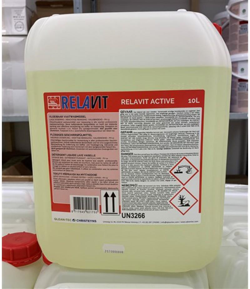 Relavit Vloeibaar Vaatwasmiddel Met Chloor 10 Liter