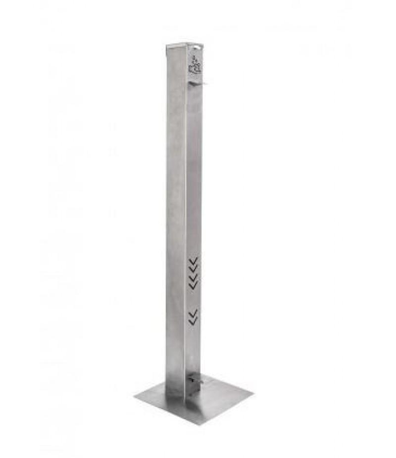Desinfectiezuil Dispenser Met Voetpomp 1000x70x70mm RVS