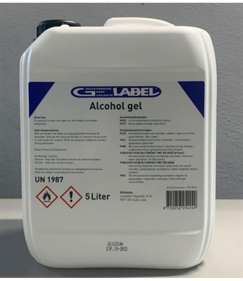 Handgel Desinfecterend G-Label Met Lavendel Geur 5 Liter
