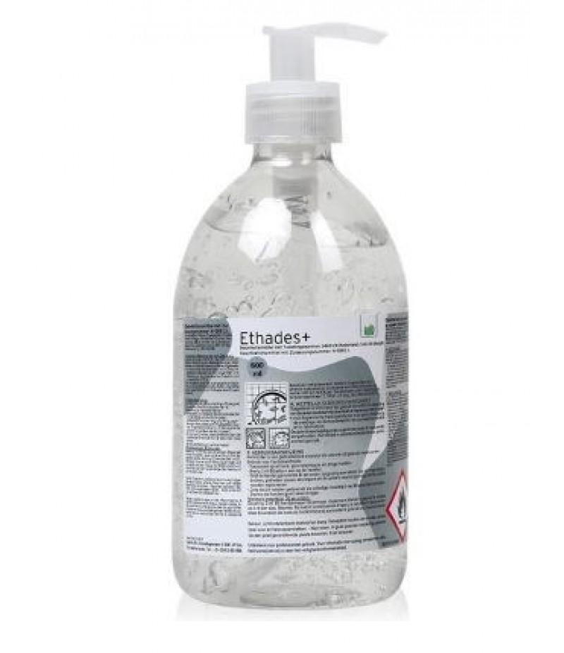 Handgel Desinfecterend Ethades+ Met Pompje 500ml