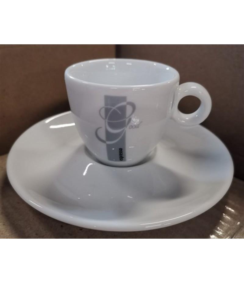 Espresso Good Espressokop 8cl Wit/Grijs (Excl. Schotel)
