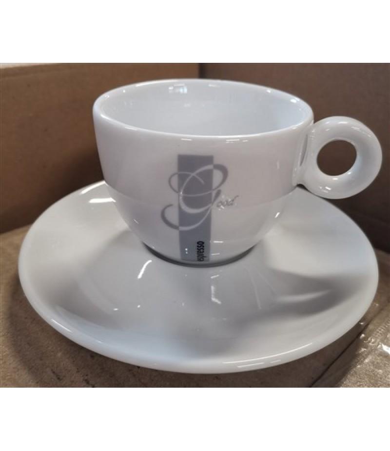 Espresso Good Koffiekop 15cl Wit/Grijs (Excl. Schotel)