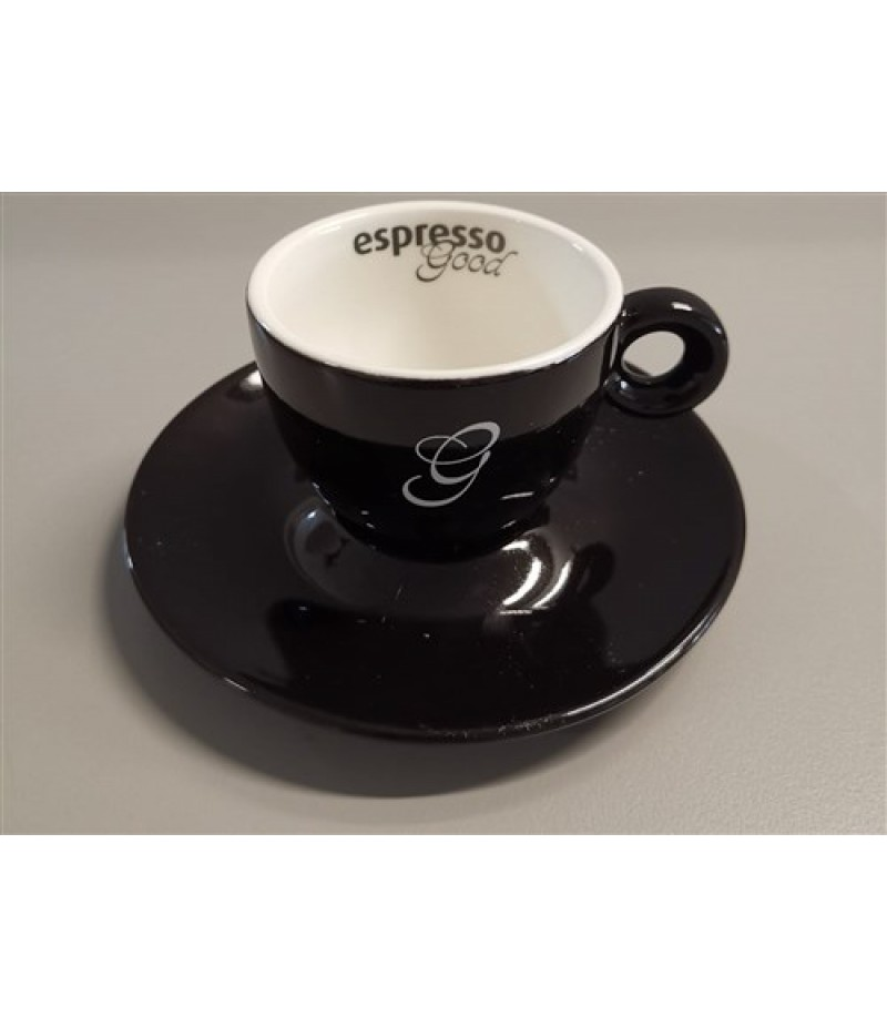 Espresso Good Koffiekop 8 cl Zwart/Wit (Excl. Schotel)