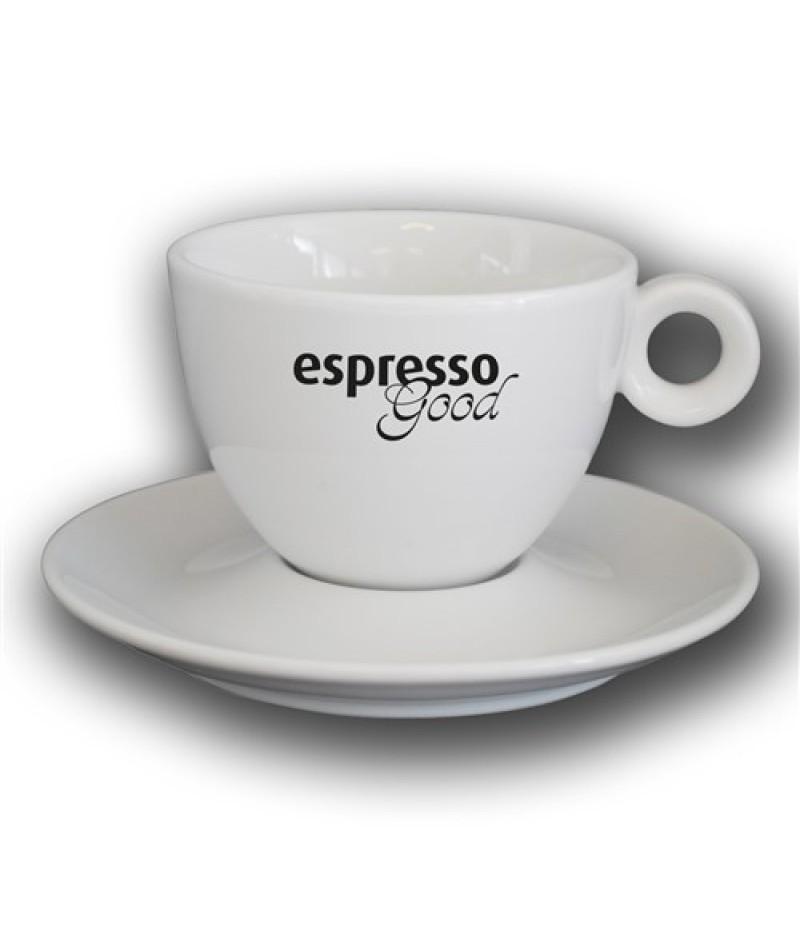 Espresso Good Kop en Schotel 28cl Wit Bola
