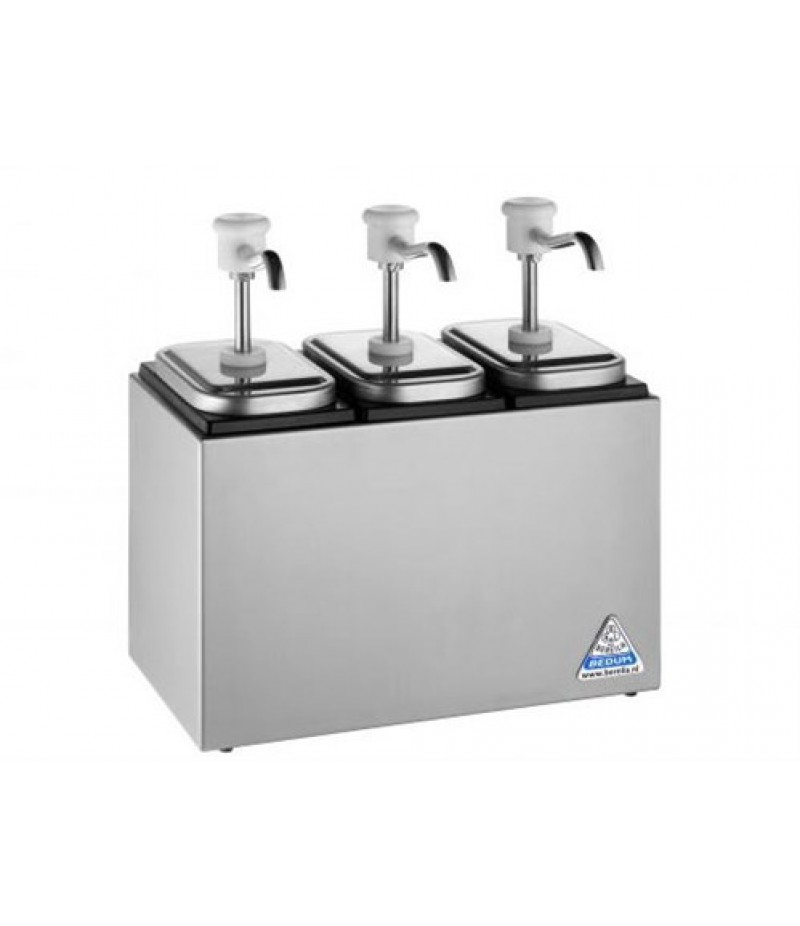 Sauzenbar Onverwarmd 3-Delig Met 3 RVS NEOdispensers
