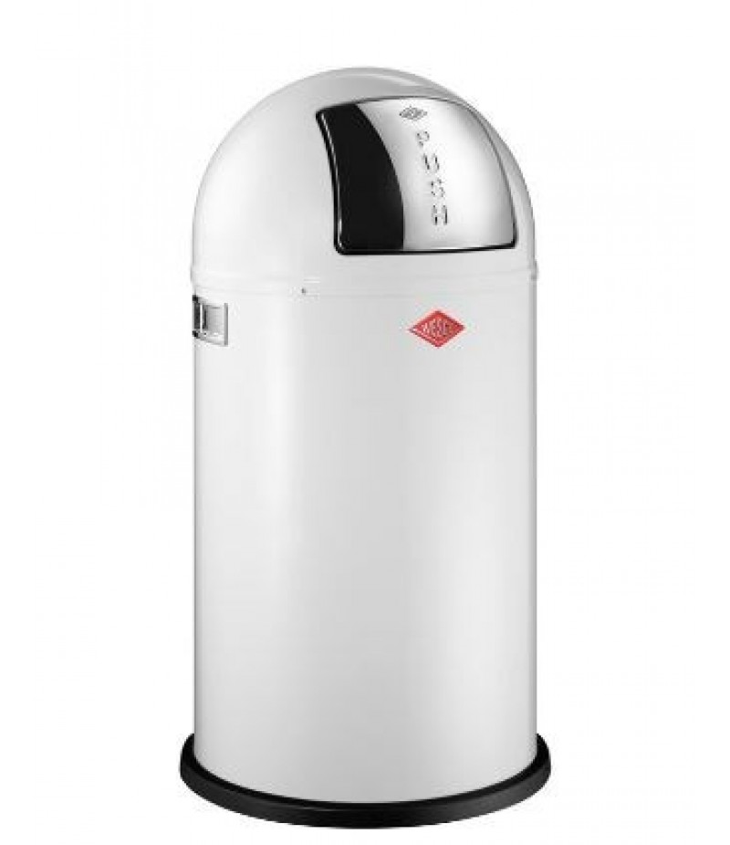 Afvalbak Pushboy 50 Liter Wit Wesco