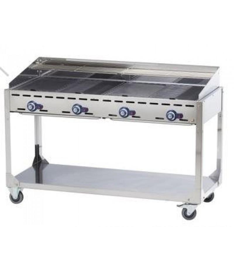 Gasbarbecue 4 Branders Green Fite Profi Line
