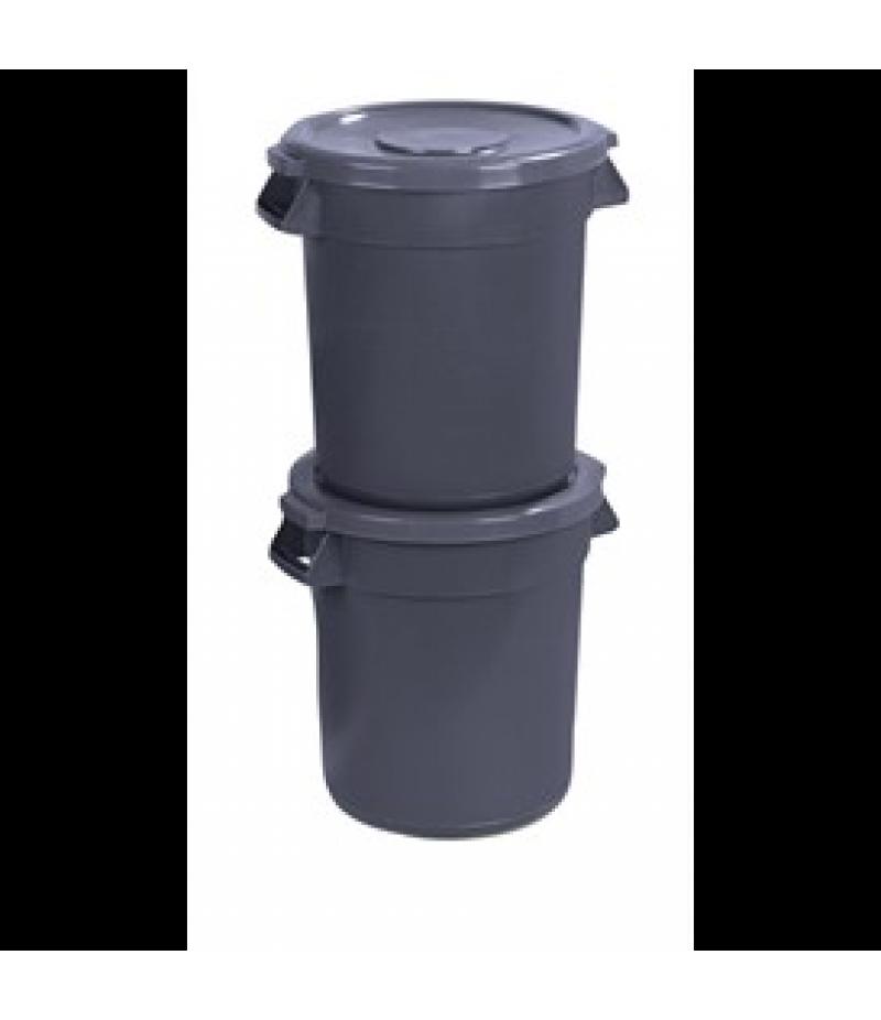 Afvalbak Carlisle Bronco 43cm 38L Grijs Polyethyleen