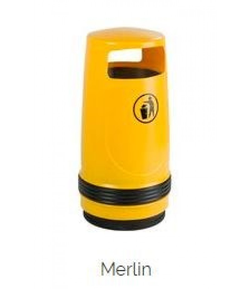 Afvalbak Merlin Kunststof Geel