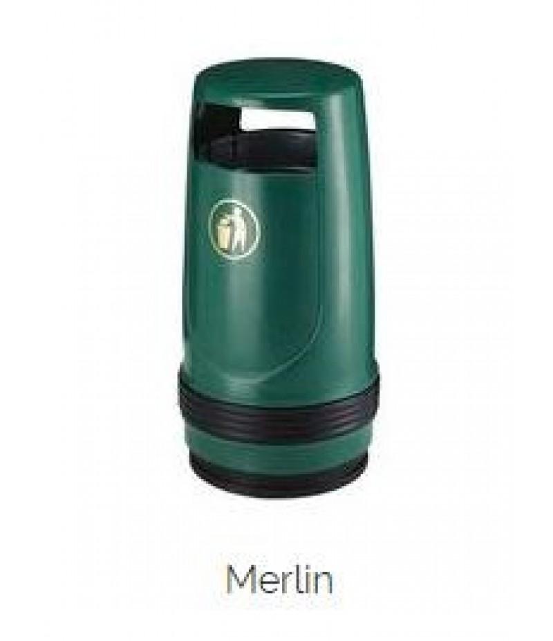 Afvalbak Merlin Kunststof Groen