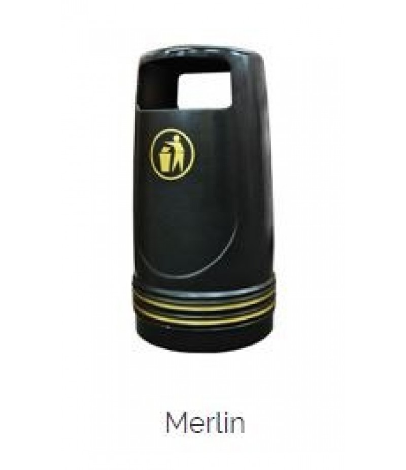 Afvalbak Merlin Kunststof Zwart