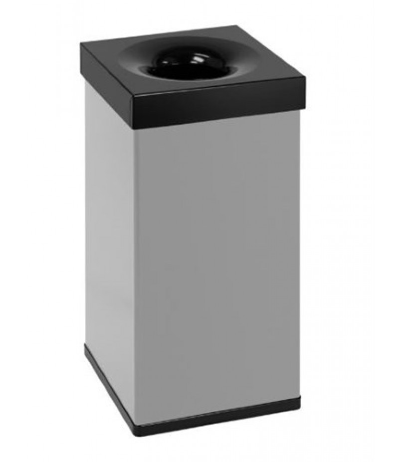 Afvalbak Carro Flame Grijs/Zwart 55 Liter - 31003976