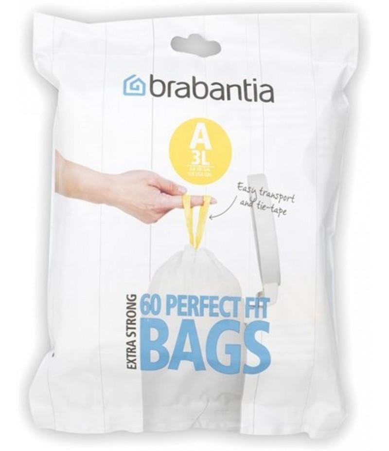 Brabantia Afvalzak 3 liter Met Trekbandsluiting (A)