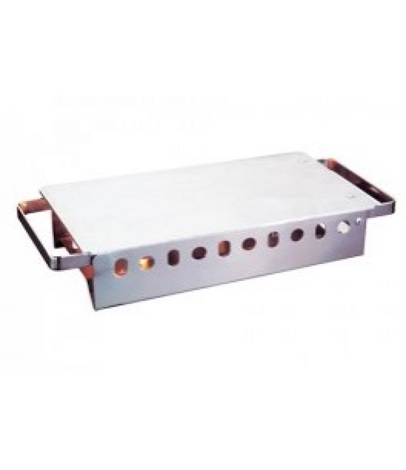 Rechaud (cap.02st.) Scharnierende Aluminium Bovenplaat RVS