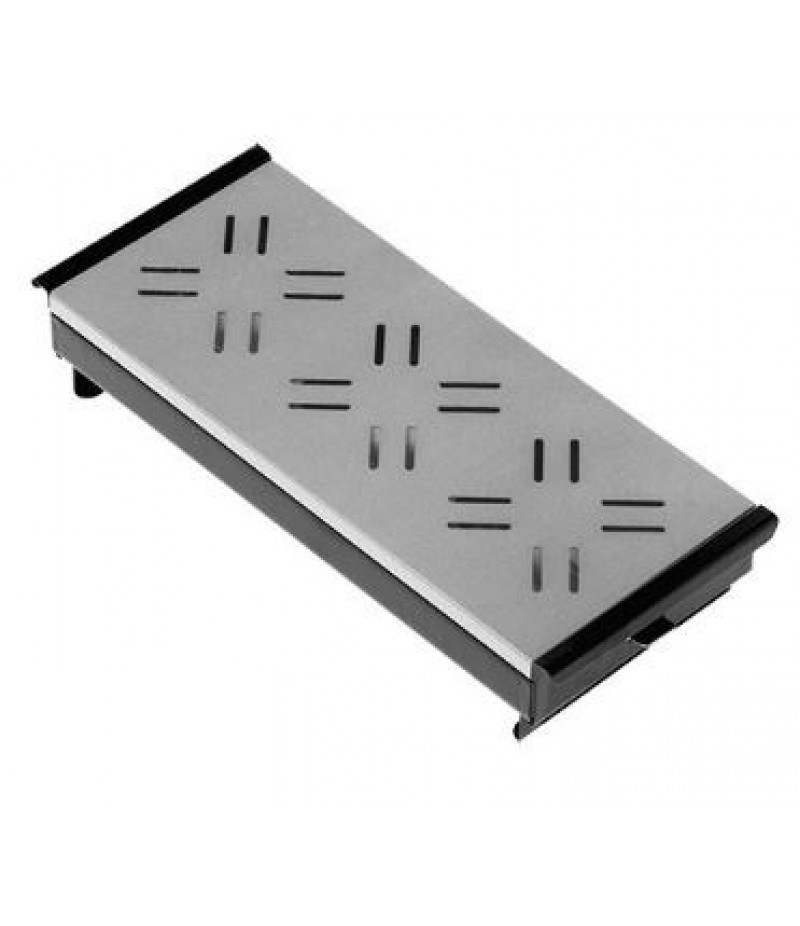 Rechaud (cap.03st.) Zwart Bovenplaat Aluminium