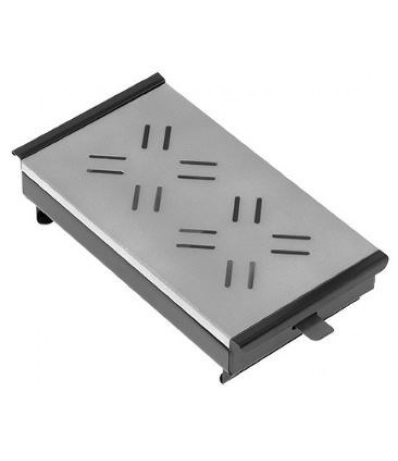 Rechaud (cap.02st.) Zwart Bovenplaat Aluminium