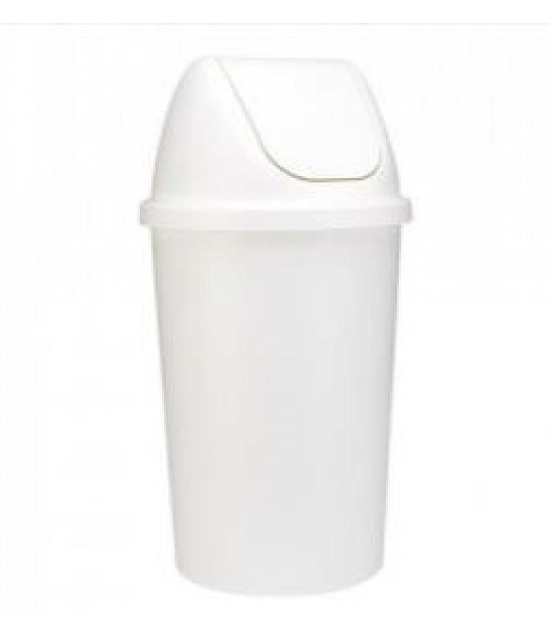 Afvalcontainer 45 Liter Wit Kunststof Tuimeldeksel