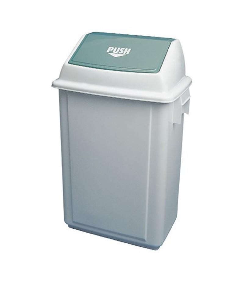 Afvalcontainer 50 Liter Wit Kunststof Tuimeldeksel Araven