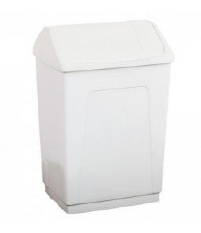Afvalcontainer 55 Liter Wit Kunststof Tuimeldeksel