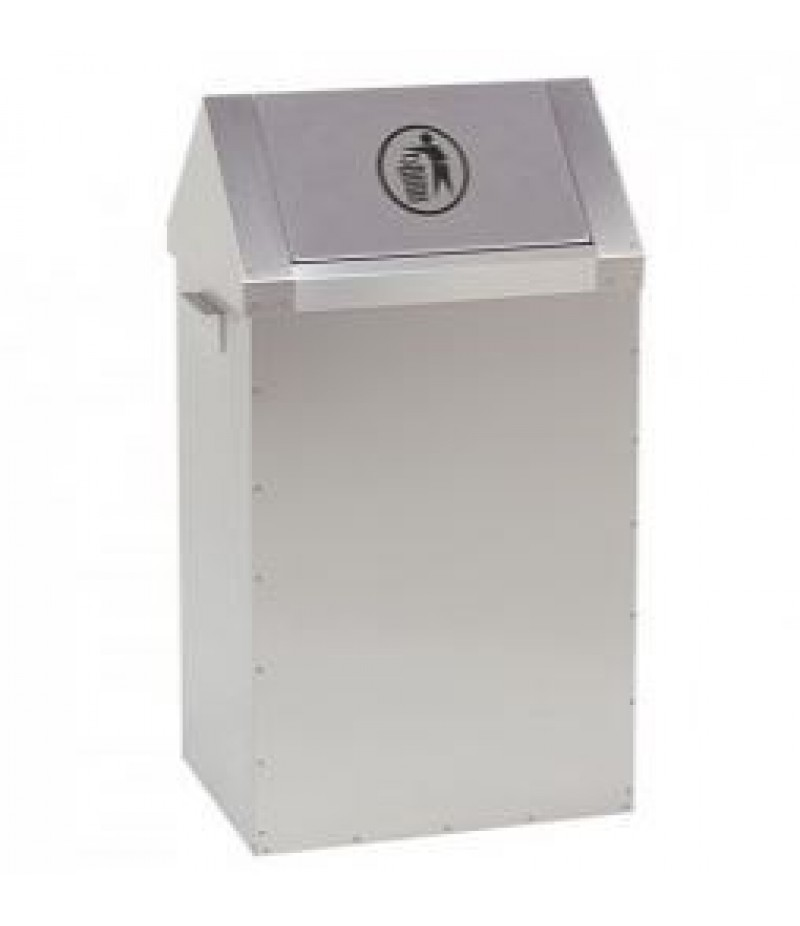 Afvalcontainer 65 Liter RVS Tuimeldeksel