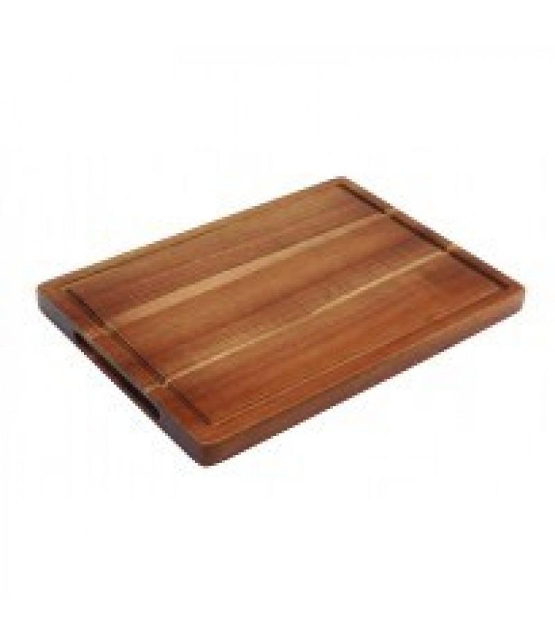 Acacia Plank/Plateau Rechthoek Met Inkeping 28x20x2cm