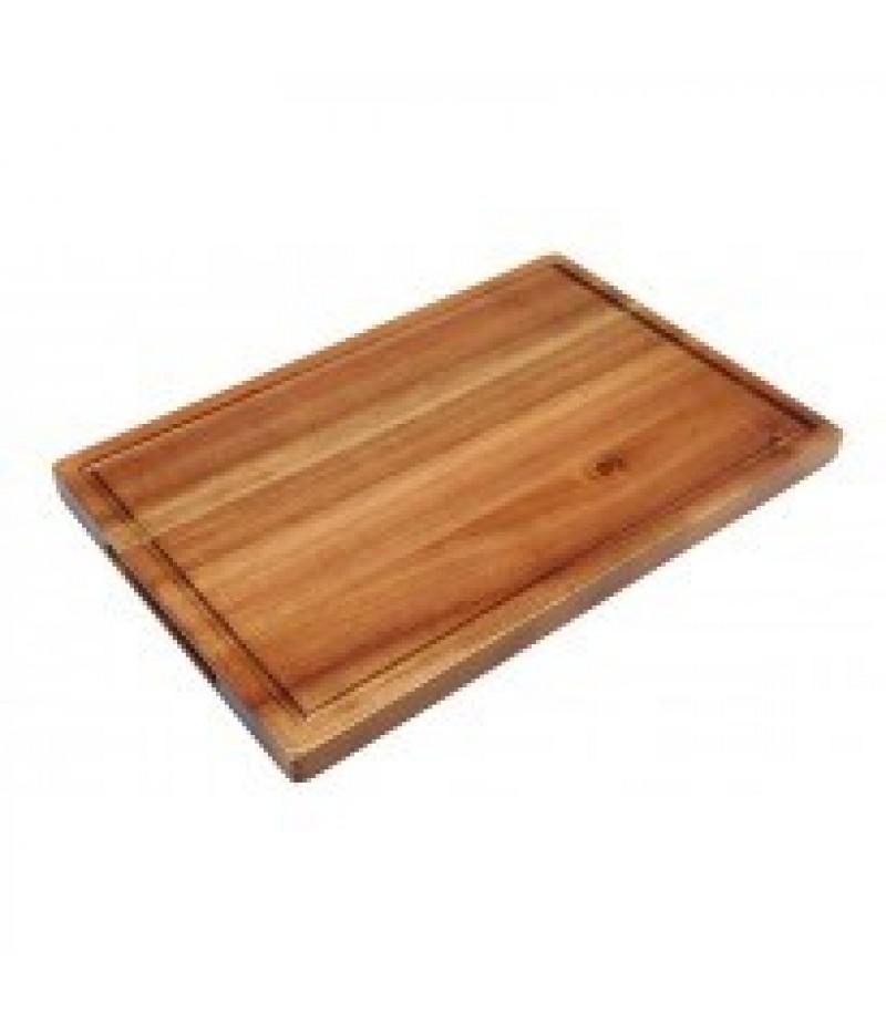 Acacia Plank/Plateau Rechthoek Met Inkeping 34x22x2cm