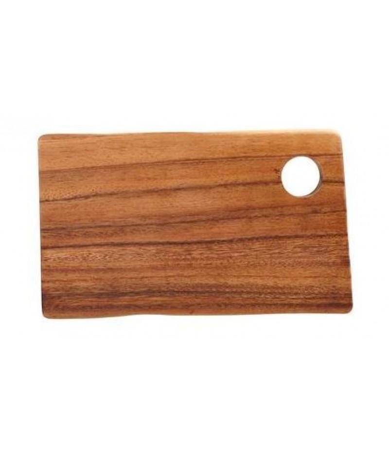 Acacia Rechthoekige Plank/Plateau Met Gat 25x14x2cm
