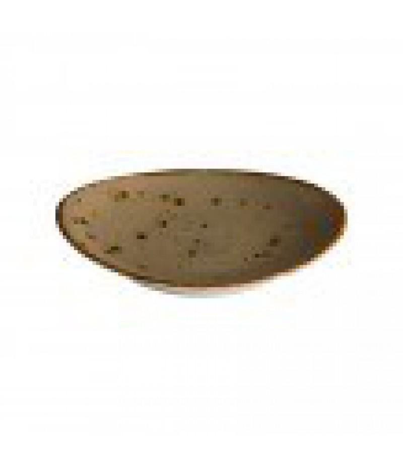 Q Authentic Reactive Sand Ovaal Bord 30x25,5cm