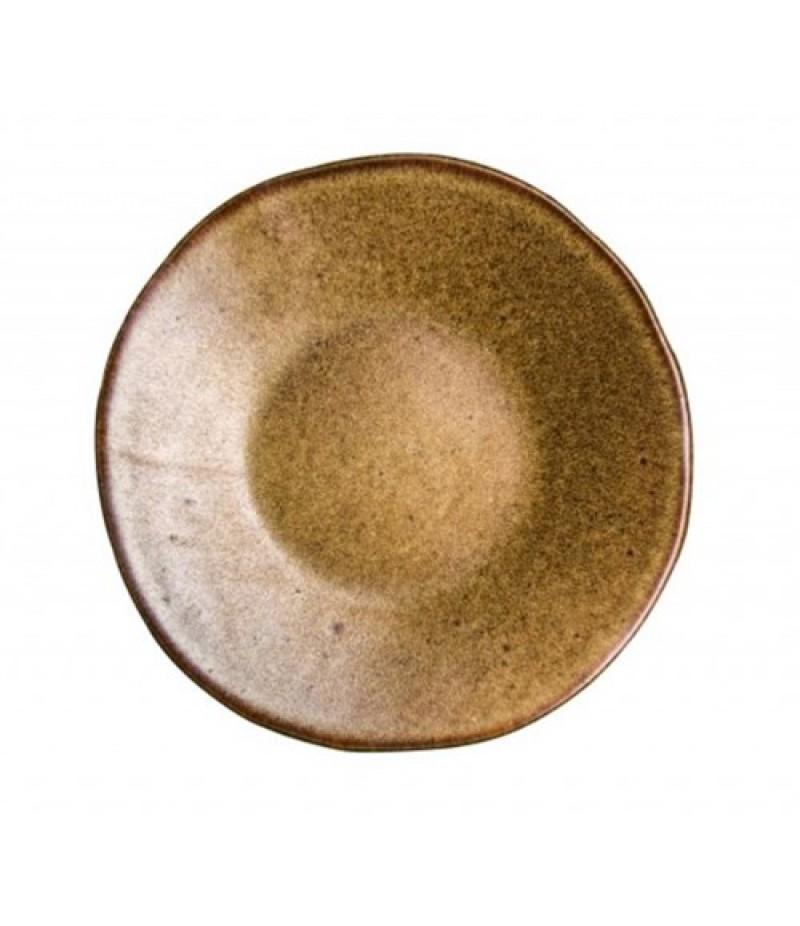 Q Authentic Stone Brown bord 16cm