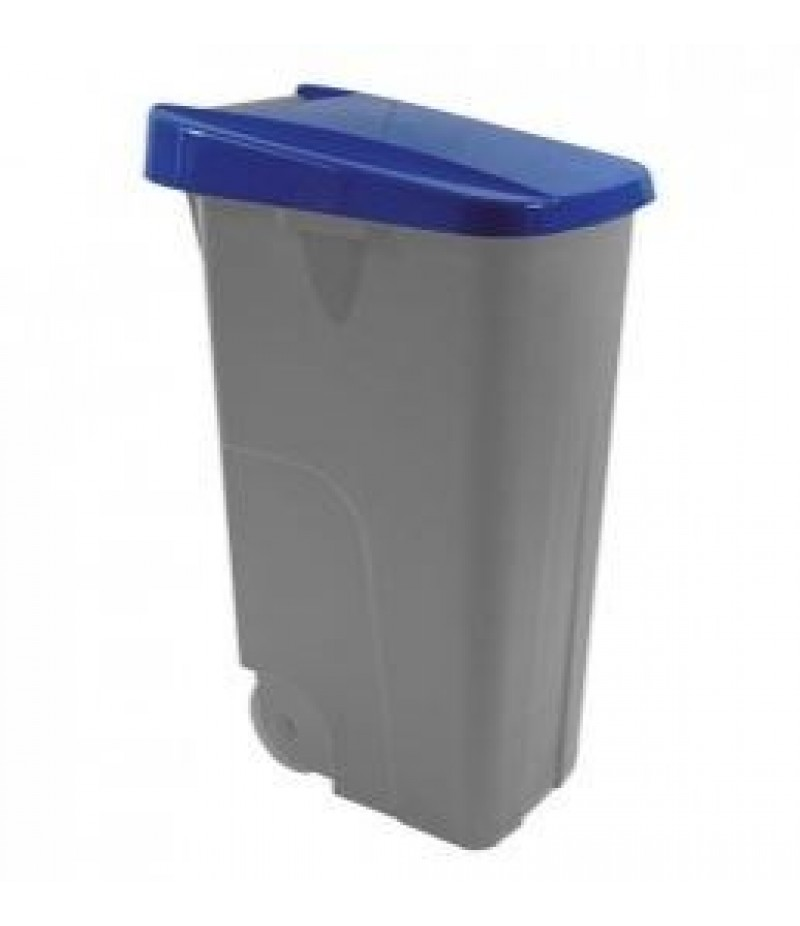Afvalcontainer 110 Liter Blauw Kunststof Verrijdbaar