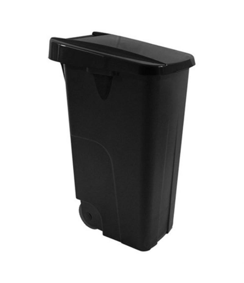 Afvalcontainer 110 Liter Zwart Kunststof Verrijdbaar